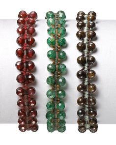 beads could also be wire-wrapped on both sides of center bangle