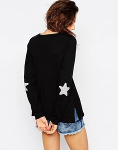 Image 2 ofASOS Jumper With Star Elbow Patch