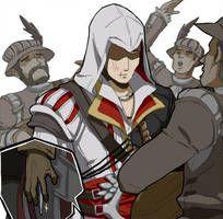 I feel your pain Ezio! Assassins Creed Comic, Ezio, All Assassin's Creed, Assassin's Creed Brotherhood, Video Game Characters, Fandoms, Arno Dorian, Hidden Blade, Video Games