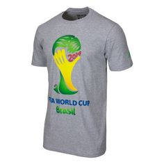 adidas Fifa World Cup 2014 Brazil TEE Gray Youth YM -- Find out even more regarding the great item at the image web link. (This is an affiliate link). World Cup 2014, Fifa World Cup, Soccer Video Games, Fifa Games, Adidas Men, Brazil, Youth, Tees, Mens Tops