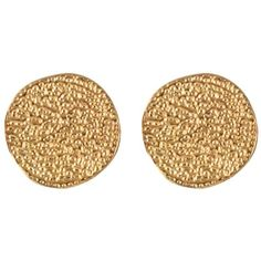 Karen Kane Sandy Beach Stud Earrings ($16) ❤ liked on Polyvore featuring jewelry, earrings, accessories, gold, women, stud earrings, gold earrings, beach jewelry, disc earrings and earrings jewelry