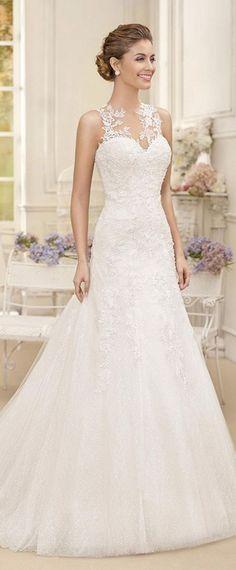 Wonderful Romantic Wedding Dresses #weddingdress