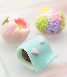 Japanese sweets (wagashi) spring