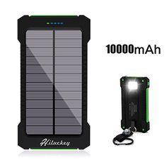 Hiluckey Solar Charger 10000mAh Solar Power Bank Waterpro...…