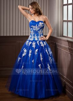 Quinceanera Dresses - $192.99 - Ball-Gown Sweetheart Floor-Length Tulle Quinceanera Dress With Lace Beading Sequins (021020924) http://jjshouse.com/Ball-Gown-Sweetheart-Floor-Length-Tulle-Quinceanera-Dress-With-Lace-Beading-Sequins-021020924-g20924