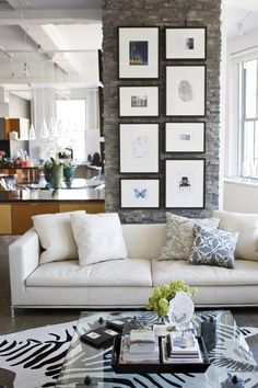 living room....i love a white couch!