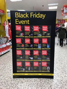 Tesco.  Here are the deals, presented on a huge card standee.  Like that the messages can be interchanged
