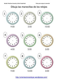 1000 images about qu hora es telling time on pinterest telling time time in spanish and. Black Bedroom Furniture Sets. Home Design Ideas