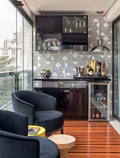 Understanding Mini Bar Design Ideas Some balconies are made to compliment the present home design and decor. When it has to do with designing an outdo. Mini Bar, Balcony Decor, Interior Design, House, Apartment Decor, Home, Balcony Bar, Home Deco, Home Decor