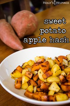 Sweet Potato Apple Hash | hollyshelpings.com