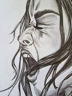 drawings drawing pencil dark emotional screaming sad graphite wall portrait sketches simple paintings faces draw visit joker painting dibujos realistic