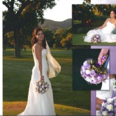Touch of lavender roses mixed with white gives a very cool look
