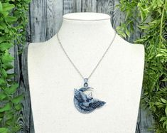 Raven Necklace Crow Necklace Wiccan Jewelry / Pagan Jewelry image 1 Wiccan Jewelry, Gothic Jewelry, Wiccan Altar, Wolf Necklace, Wolf Jewelry, Witch Fashion, Witch Aesthetic, Dark Gothic, Crow