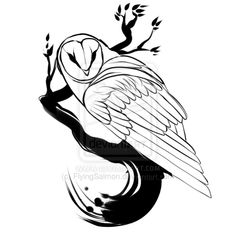 http://flyingsalmon.deviantart.com/art/Tattoo-Design-Barn-Owl-313140373    She has beautiful artwork, check out her other stuff, I love this ink work, I would love to get this as a tattoo.