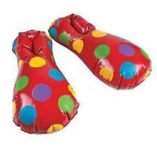 HALLOWEEN ~ Circus Carnival Inflatable Clown Shoes Kids Birthday Party Clothes