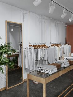 Showroom project in Moscov Fashion Shop Interior, Clothing Boutique Interior, Clothing Store Design, Fashion Store Design, Showroom Interior Design, Boutique Interior Design, Home Interior, Small Store Design, Aesthetic Stores