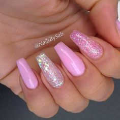 Pink Long Coffins. Hot Color Shades to Stay Fashionable with Ballerina Nails #naildesignsjournal #nails #ballerinanails