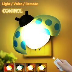 Voice Light Remote Control Colorful Wall Lamp Creative Smart Beatles LED Night Light Home Decor