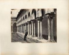 G. Sommer, Italia. Monreale Chiostro. Palermo     #Europe #Italia #Sicile_Sicilia