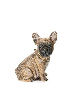 Pierre+French+Bulldog+Crystal+Clutch+Bag,+Champagne+by+Judith+Leiber+Couture+at+Neiman+Marcus.