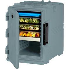 Cambro Slate Blue, S-Series Ultra Insulated Food Carrier, Built-in Gasket UPCS400-401