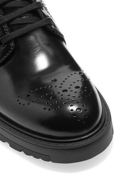 Prada - Leather Ankle Boots - Black - IT39.5