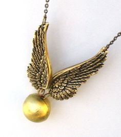 The Golden Snitch on a necklace!