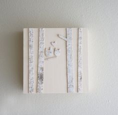love in the white birch forest  snow owls wall by urbanplusforest, $24.00