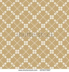 Golden vector geometric seamless pattern in Asian style. Abstract background with floral shapes, grid, lattice, cross lines, repeat tiles. Elegant white and gold texture. Luxury decorative design