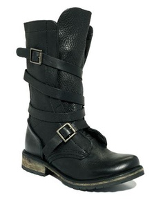 Steve Madden motorcycle boots. So hot.