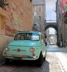 Vintage Cars Fiat 500 in Verona - Italy My Dream Car, Dream Cars, Fiat Cinquecento, Fiat 126, Fiat Cars, Verona Italy, Cute Cars, Car Wheels, Small Cars