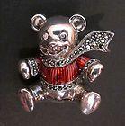 Cute Teddy Bear Pin Brooch Vintage Judith Jack Sterling Silver Marcasite - NEW - Bear, Brooch, Cute, Jack, Judith, Marcasite, silver, Sterling, Teddy, Vintage - http://designerjewelrygalleria.com/judith-jack/judith-jack-pins/cute-teddy-bear-pin-brooch-vintage-judith-jack-sterling-silver-marcasite-new/
