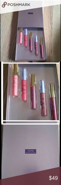 SALE! Tarte 5 pack lip gloss Brand new, never used any of them . They are full size bottles not trial size. Each lip gloss retails for 20.00 each so this is a great price for 5 :) tarte Makeup Lip Balm & Gloss