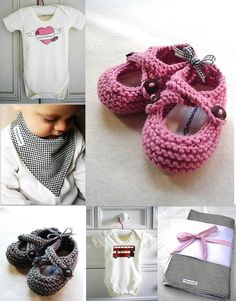 Carol makes the most beautiful baby gifts and some come in beautifully designed handmade packages. Gorgeous for baby gifts! merino knitted baby booties : silver grey, hand knitted, hand printed gift bag, scented insoles.