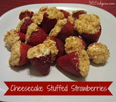 Instead of dipping your strawberries, try stuffing them! Add some graham cracker crumbs and you have a mini strawberry cheesecake!