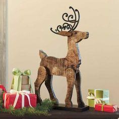 Barn Wood Reindeer - VivaTerra