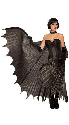 Forum Adult Theatrical Bat Costume Wings, Black, One Size Dark Costumes, Cool Costumes, Halloween Costumes, Halloween Ideas, Halloween 2017, Dracula Costume, Bat Costume, Halloween Costume Accessories, Maquillage Halloween