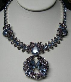 Sherman Faux Alexandrite Necklace Earrings Color Change Silver-tone  $650  http://www.rubylane.com/item/375634-12-0022/Sherman-Faux78-Alex78andrite-Necklace-Earrings