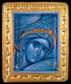 Αγγελος__ ((Angel icon by Aleksandra Graovac of Serbia Byzantine Icons, Byzantine Art, Christian Images, Christian Art, Religious Icons, Religious Art, Religion, Paint Icon, Spirited Art
