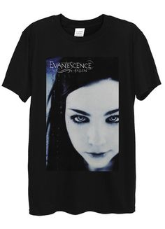 Amy Lee of Evanescence T-Shirts available in different colours, styles and sizes.