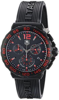 Red and Black, TAG Heuer Formula 1 Analog Display Quartz Black Watch!
