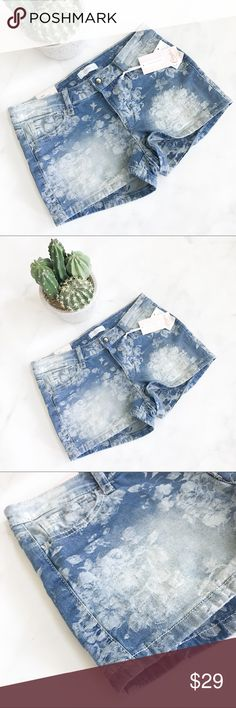 Floral Emboss Denim Shorts Brand new with tags! (004-0111)   PRODUCT DETAILS: •Size: 5 / 6 •Colors: Blue, White •Made in China •Measurements: Length-10inch Inseam-2inch Rise-8inch Waist-14inch •98% Cotton, 2% Spandex •Machine Wash •Floral emboss effect •5 Pocket •Gem Button  Tags: Jean Short flower festival Coachella summer spring Acid wash light medium concert beach pool Candie's Shorts Jean Shorts