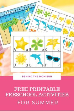 Free Printable Preschool Activities for Summer - Behind the Mom Bun Thanks for this post. This set of free printable preschool activities is the perfect pack for your little one Free Activities For Kids, Free Preschool, Preschool Activities, Summer Worksheets, Kindergarten Worksheets, Pottery Workshop, Preschool Special Education, Letter Identification, Teaching Kids