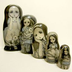 Russian Nesting Dolls and they're all Alice!