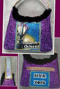 Glammed up purses from the Mystic Krewe of Nyx