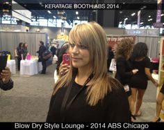 Our visit to the Keratage booth at the 2014 ABS show. Here is one of the featured demonstrations that delivered beautiful results!  After a Silver & Blonde Highlights Illuminating Treatment using: Keratage Fortifying Shampoo, Illuminating Treatment Mist, Silver and Blonde Treatment Mask & #2 Illuminating Cocktail...Hair's luminous shine and color was restored.  #myaffordableluxury Blow Dry Style Lounge http://blowdrystylelounge.com/