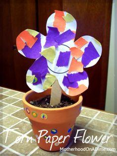 Torn Paper Flower (Toddler or Preschool Craft)