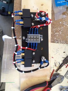 st blade fuse block 12 circuits with negative bus and cover blue rh pinterest com Electric Power Box Electric Meter Box