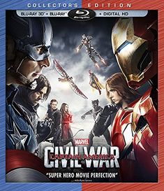Bring the magic of Marvel home with Captain America: Civil War on Blu-Ray & Digital HD today! #CaptainAmerica #TeamIronMan #TeamCap