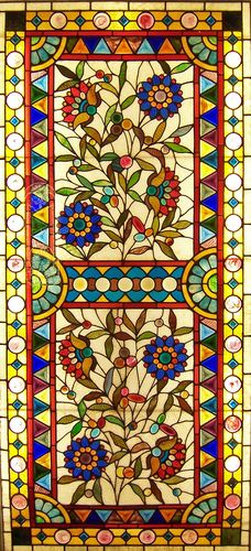 Stained glass window from the Smith Museum of Stained Glass at Navy Pier in Chicago, Illinois.